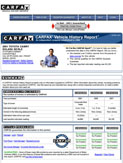 Carfax Sample Report